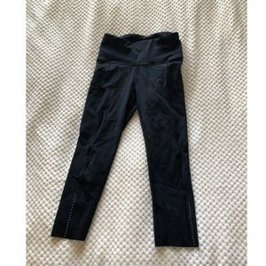 """Lululemon Fast and Free Crop 19"""" size 4"""